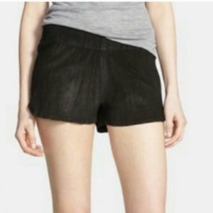 Hudson leather suede Siouxsie dolphin shorts